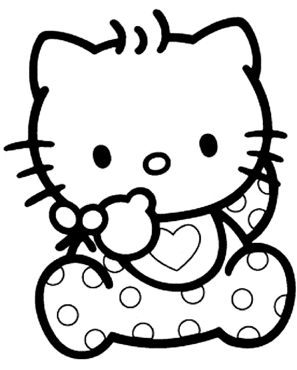 Hello Kitty Bébé Coloriage Bébé Hello Kitty à Imprimer