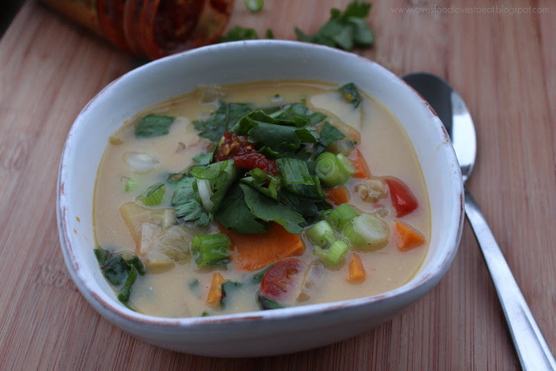 Loves Food, Loves to Eat: Spicy Sweet Potato & Coconut Milk Soup