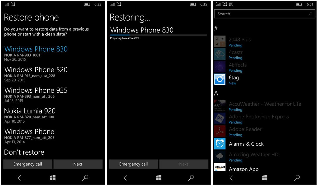 Windows Phone Restoration