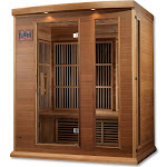 Maxxus 3-Person Cedar Infrared Wood Sauna, Red
