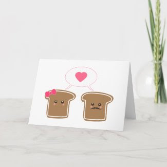 Kawaii Toast Love card
