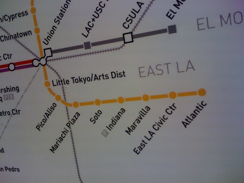 L.A. gold line