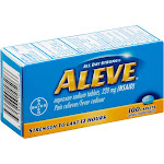 Aleve Naproxen Sodium Pain Reliever/Fever Reducer 220mg Caplets 100 ct Box