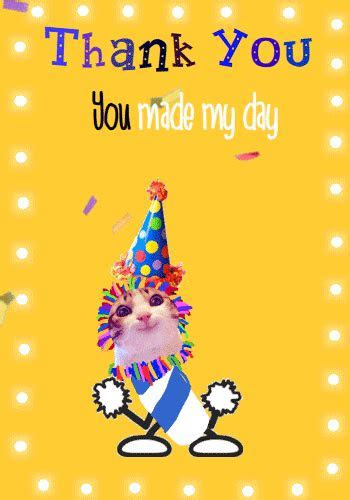 Birthday Thank You Dance Cat. Free Birthday Thank You