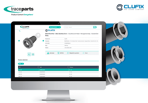 Clufix Featured on TraceParts CAD-content Platform