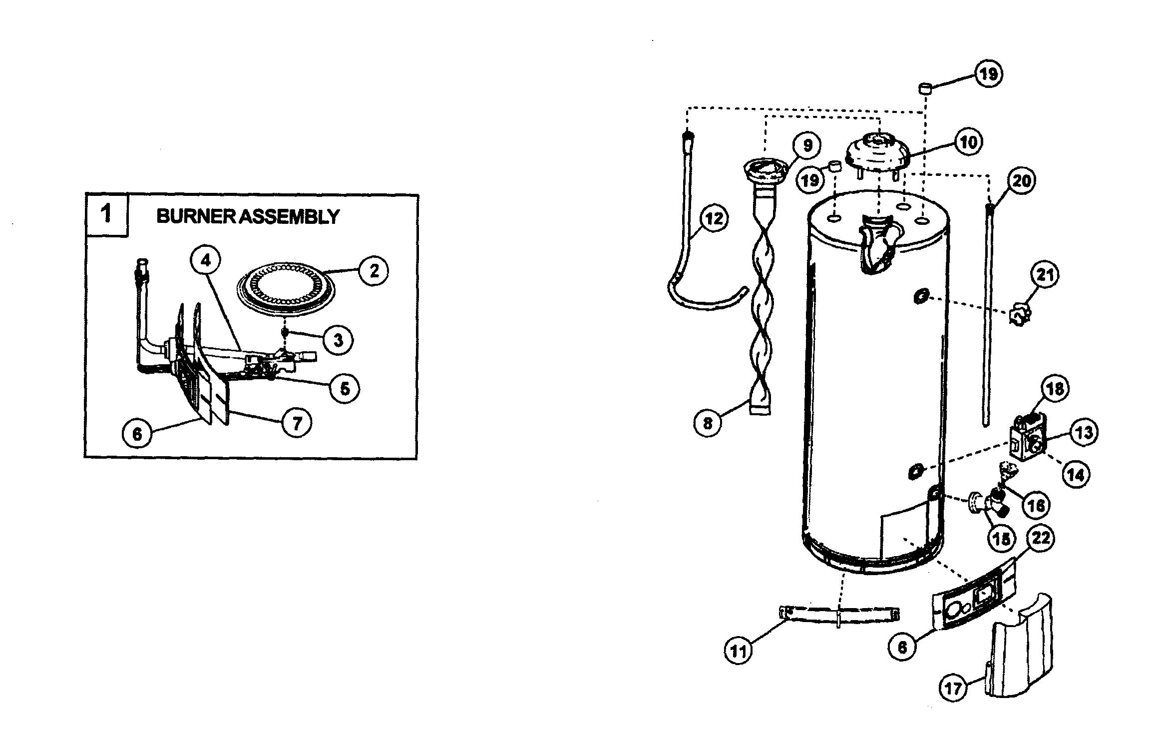 WATER HEATER Diagram & Parts List for Model 153339260 ...