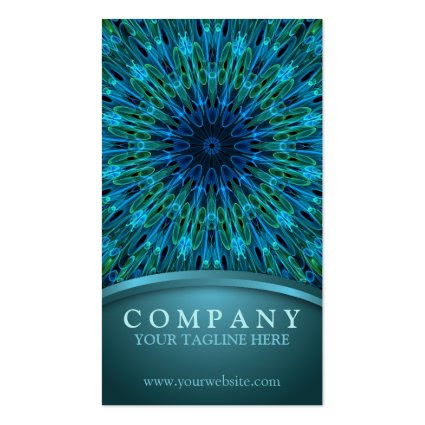 Aqua Explosion Business Card Templates
