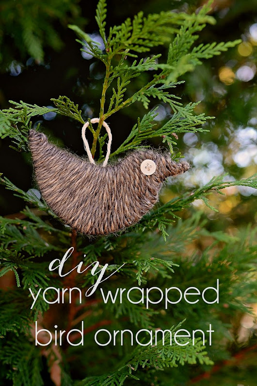 Yarn Wrapped Bird Ornament | DIY Tutorial | by Sarah Halstead
