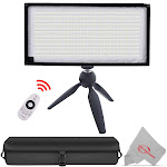 Vivitar Fabric 384 LED Light Panel Roll Panel with Tabletop Tripod for Traveling Filmmakers Outdoor Photography