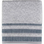 Saturday Knight Cubes Cotton Stripe Bath Towel - Navy