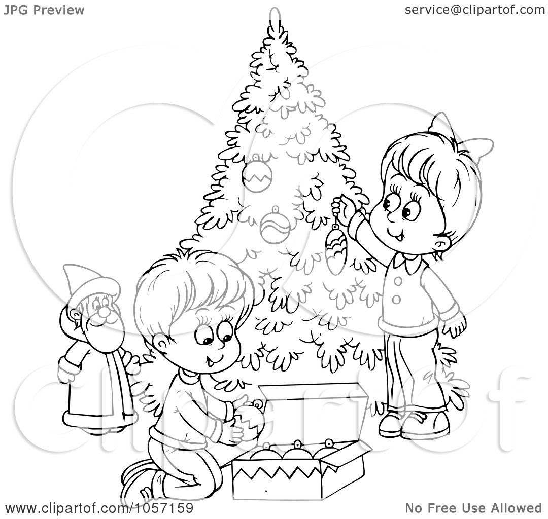 Royalty-Free Clip Art Illustration of a Coloring Page ...