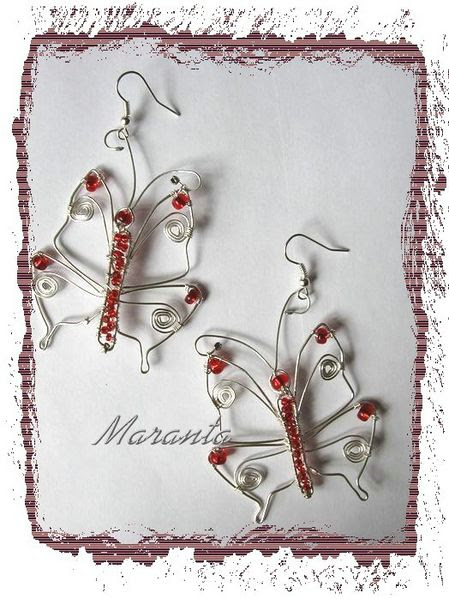 wire wrapping kolczyki