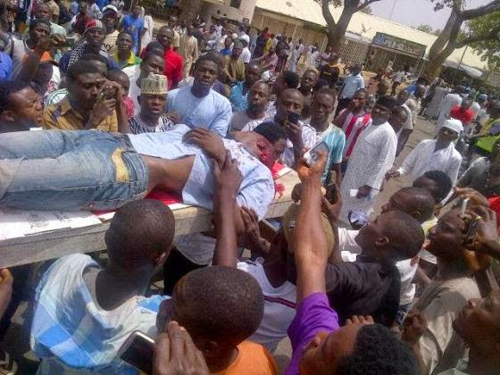 A Man Has Been Shot Dead As Violence Hits INEC Office In Bauchi - Graphic Photos -