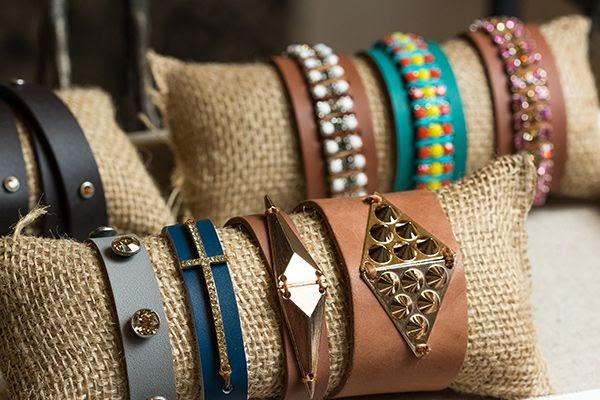 Photograph bracelets on a display