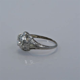 Art Deco .65ct. Diamond & 18K White Gold Engagement Ring