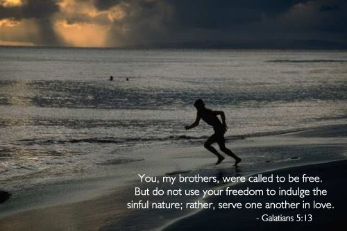 Inspirational illustration of Galatians 5:13