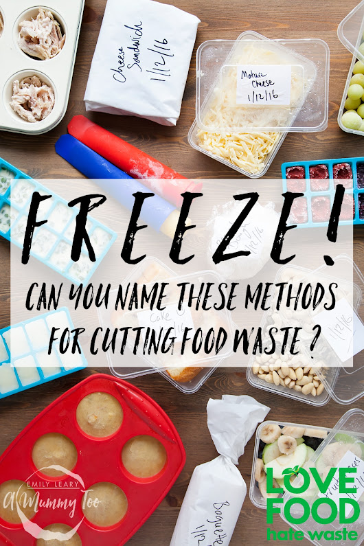 Freeze! How many of these methods of cutting food waste can you name? - A Mummy Too