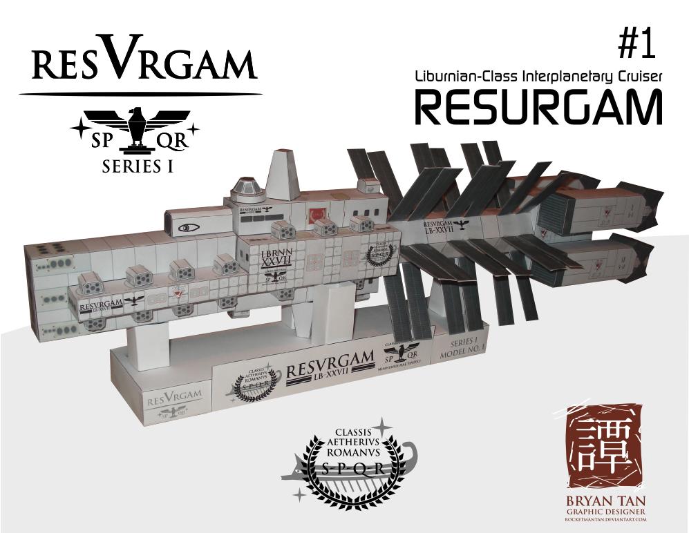 Resurgam Interplanetary Cruiser Papercraft