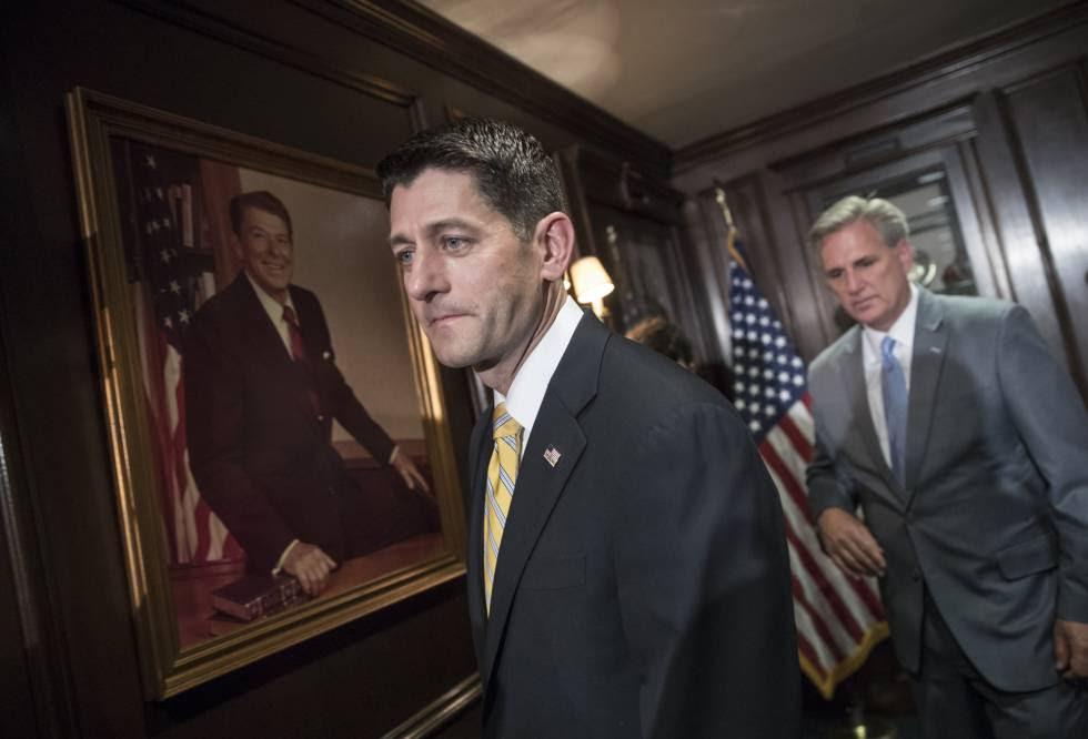 Paul Ryan y Kevin McCarthy este miércoles en Washington.