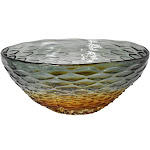 """Diva at Home 12.25"""" Purple and Amber Honeycomb Design Art Glass Bowl 32813534"""