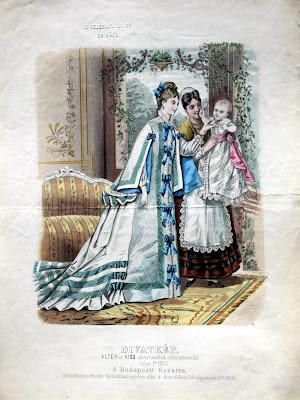 Baby + 2 women - Budapest fashions 1870s