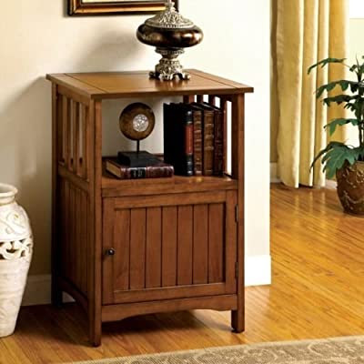 Antique Oak Solid Wood Hallway Telephone Plant Stand Snack Table | Brians Living Room Furniture