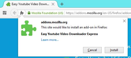 klik install untuk menambahkannya