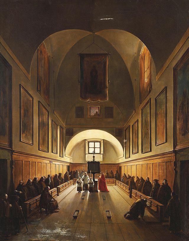 Francois-Marius Granet Choir i Capuchin kyrkan i Rom.jpg