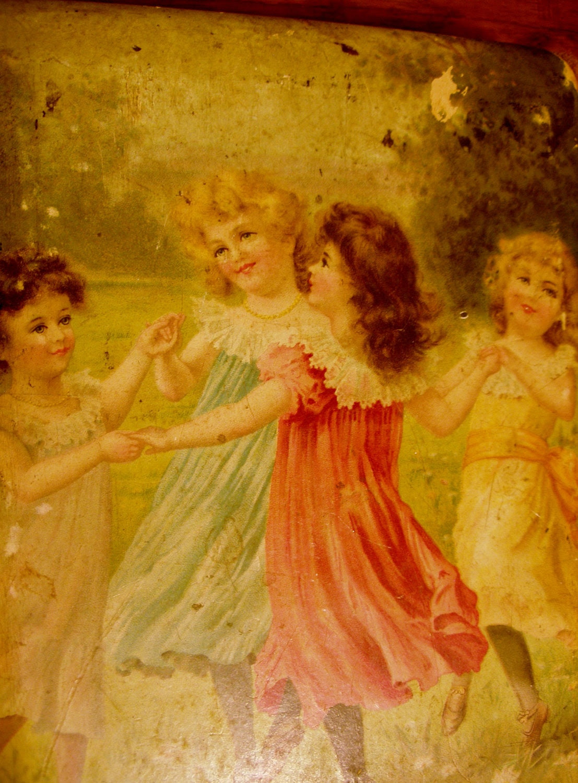 Antique Photo Picture Album Victorian Children Playing
