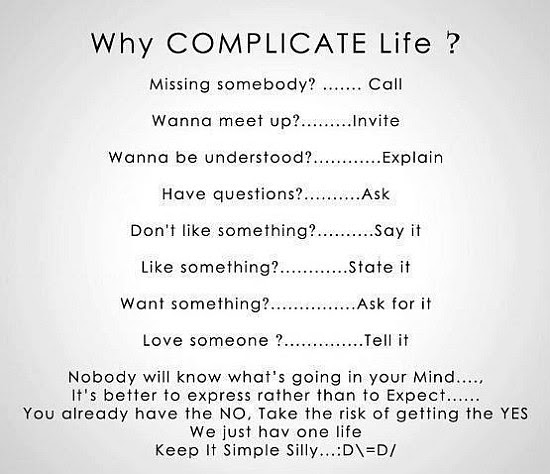 Why Complicate Life Quote Picture