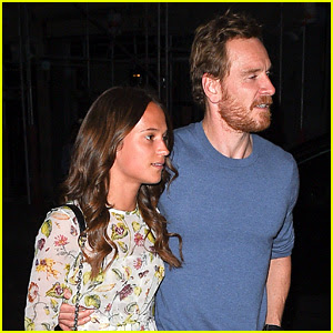 Alicia Vikander & Michael Fassbender Enjoy Date Night in Paris!