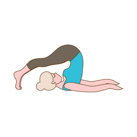 Image result for cartoon images of yogaPlough pose