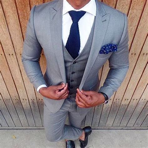 THE DROP   Bespoke suits made for you. Slim fit light grey