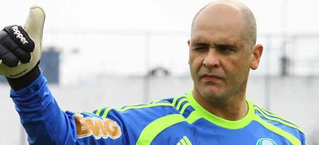 Marcos em treino do Palmeiras (Foto: Agência Estado)