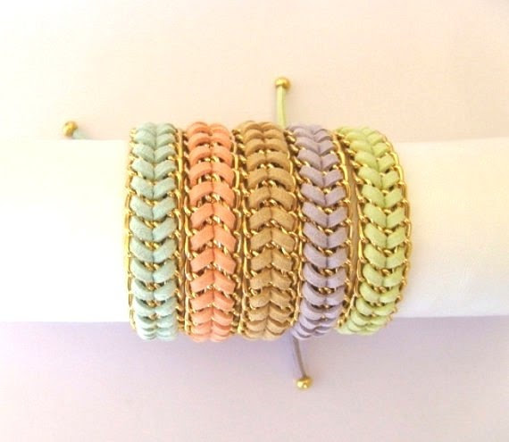 Sorbet colored stacking bracelets