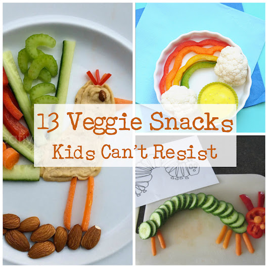 13 Veggie Snacks your kids can't resist!