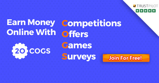 Make Money Completing Tasks & Offers With 20Cogs.co.uk