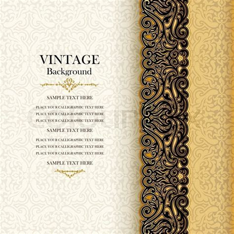 Vintage background, antique invitation     Stock vector