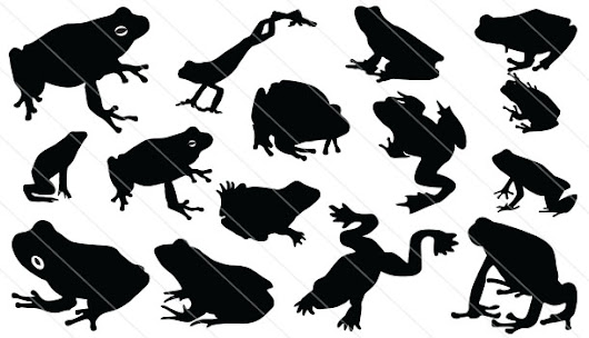 Frog Silhouette Vector Download Frog Vector Silhouette