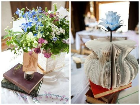 Homemade Book Themed Wedding   Boho Weddings