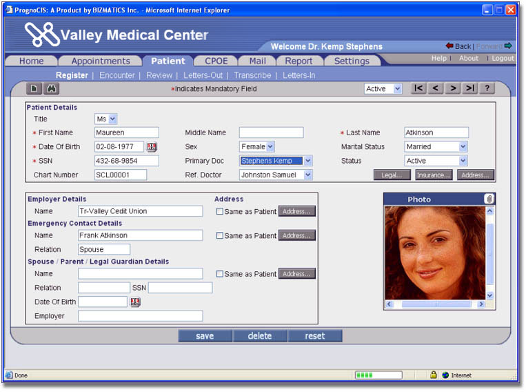 Patientrecords Management Software Clinical Notes