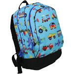"WildKin 15"" Olive Trains Planes & Trucks Kids' Backpack - Blue, Planes/Trucks"