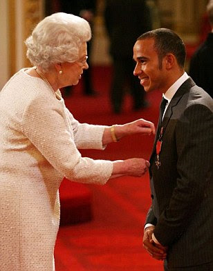 The day Her Majesty reprimanded Lewis Hamilton for being too quick off the mark: Queen