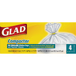 Glad 6638985 18 gal Compactor Bags Key-Lock White