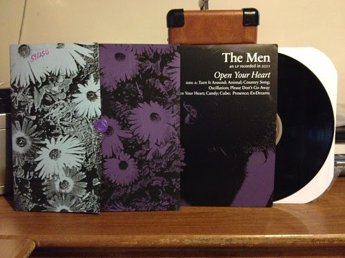 The Men - Open Your Heart LP - Screened Cover /250 by Tim PopKid