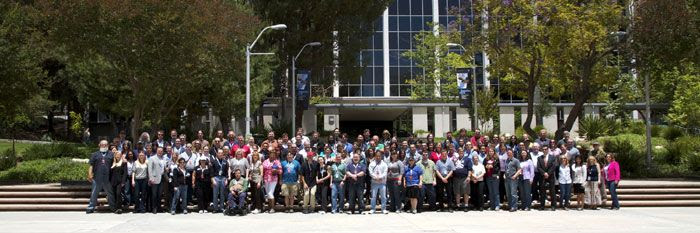 A group photo of the 110 Twitter users, including Yours Truly, who attended the JPL Tweetup on June 6, 2011.