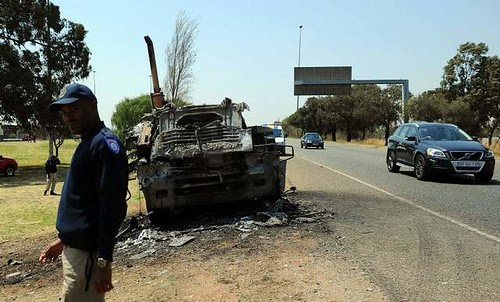 South African truckers strike has resulted in sabatoge of vehicles. The South African working class has embarked on a series of wildcat strikes across the country. by Pan-African News Wire File Photos
