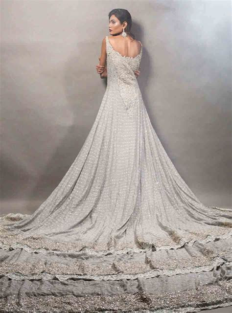 Pakistani bridal long tail maxi gown dresses 1 ? FashionEven