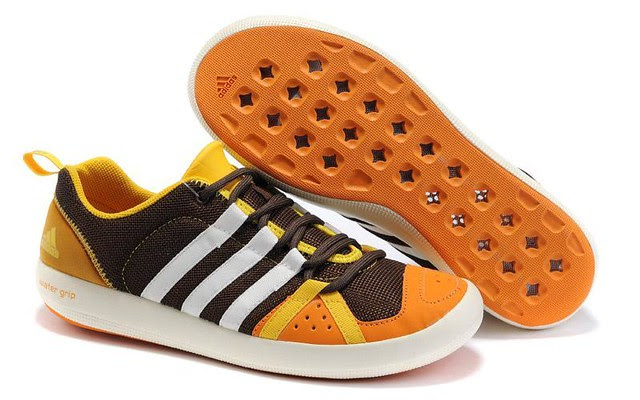 Adidas-Water-Grip-Shoes-Women-brown-white-yeloow