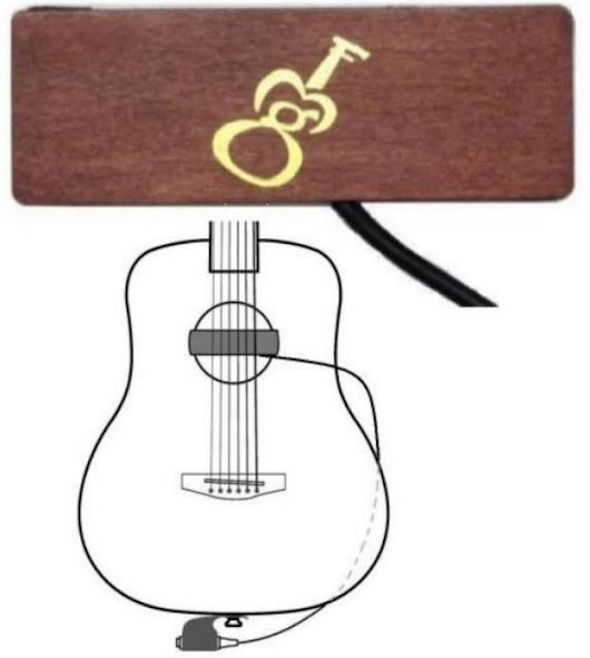 "GMF SH-1BS (Single coil Soundhole pickup with strap pin jack) ""Brown"""